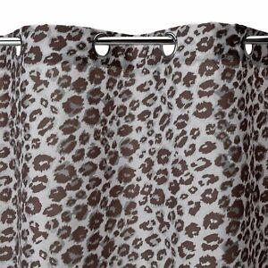 Shower Curtain With Hooks 180x180cm Leopard Designer Outline Bathroom Polyester