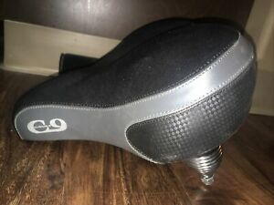 Sunlite Cloud 9 Black Bicycle Suspension Cruiser Saddle Gel Foam Bike Seat