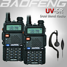 2x BAOFENG UV-5R 2-Way UHF/VHF 136-174/400-520Mhz Radio Dual Band Walkie Talkie