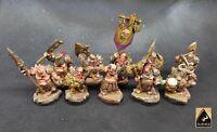 Chaos Dwarf Dwarves Army Riff Raff Evil Dwarves Painted Age Of Sigmar Warhammer