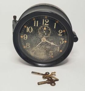 1943 Seth Thomas Mark 1 U.S. Navy Deck Clock 61521 For Repair