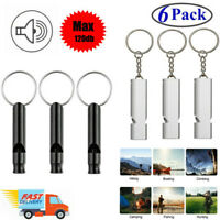 6 Pack Sports Survival Whistle Outdoor Camping Safety Training Emergency Tool