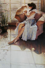 """Steve Hanks, (1949-2015), """"Ashley and Clyde"""", matted print, 8.5""""h x 5.5""""w image"""