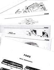 1954 1955 1956 FORD 54 55 56 BODY PARTS LIST FRAME DIAGRAMS CRASH SHEETS MRE