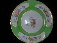 Antique Vintage Coalport English Porcelain Plate Hand Painted Flowers Gold Guilt