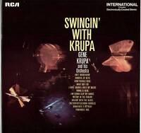 GENE KRUPA ~ SWINGIN' WITH KRUPA ~ 1970 UK 12-TRACK STEREO LP ~ RCA INTS 1072