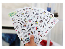 6 sheets x Cute Grey Cat Kitten PVC Polaroid Album Decor Sticker