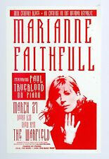 Marianne Faithfull Poster 1997 Mar 27 The Warfield San Francsico