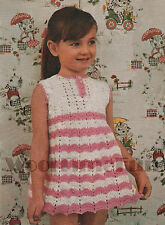 Crochet Pattern Pretty Girls Summer Dress/Tunic. 4ply & DK Instructions.