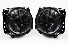 VW Golf MK2 84-92 Smoked Crosshair Headlights Headlamps Pair Set Left Right LHD