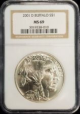 2001-D American Buffalo Commemorative Silver Dollar $1 NGC MS69