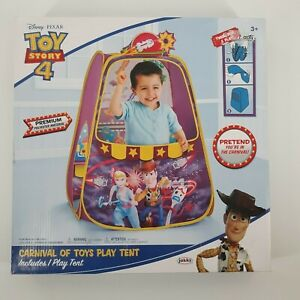 Disney Pixar Toy Story 4 Premium Carnival Of Toys Pop Up Play Tent New in Box