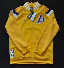 LOS ANGELES LAKERS On Court Warmup Jacket Adidas 14-15 KOBE Yellow Mens L NWT