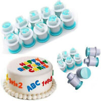 DIY Number Letter Fondant Cutter Mould Cake Cookie Decorating Baking Mold KI