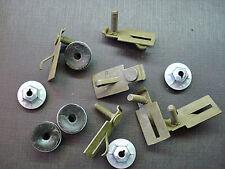 6 pcs GM body side door trunk quarter belt moulding clips & sealer nuts NOS