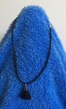 Cute And On Trend Choker Necklace 28cms Total Length - Tassel Charm - MELB STOCK