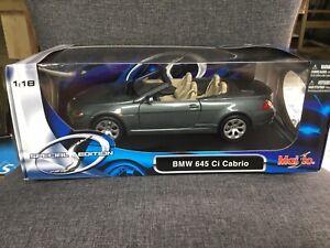 BMW 645Ci Cabrio Die Cast Model 1/18 By Maisto Gray 31111