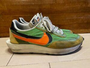 Nike x Sacai Japan LD Waffle Racer Green Gusto Orange size 13