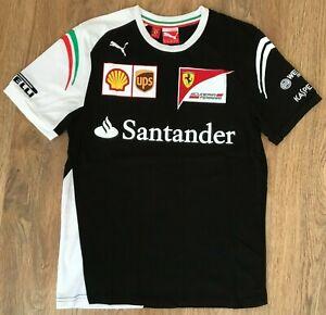 RARE Black Ferrari Scuderia Puma Santander t shirt size XS