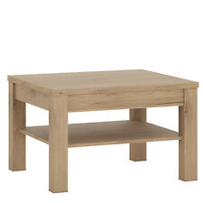 Objekt Light Oak Effect Small Coffee Table / Square Occasional Table / Modern