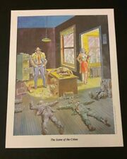 "Will Eisner ""The Spirit"" stampa 32x41 (6 soggetti) ""The Scene of the Crime"""