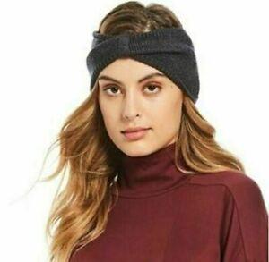 The North Face Headband Dark Gray Ribbed Knit Women NEW NWT 940