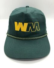 WM Waste Management Rope Cap Hat Adult Snapback Dark Green Cotton