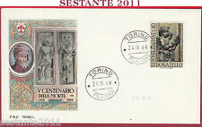 ITALIA FDC ROMA CENTENARIO DONATELLO 1966 ANNULLO TORINO Y709
