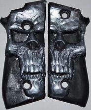 Taurus PT 92 PT 99 pistol grips pearl skull on black plastic non-decocker
