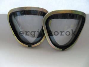 NBC Soviet Russian Gas Mask Replace Change Gllases  Lense for GP-7VM/Pmk, 2 pcs