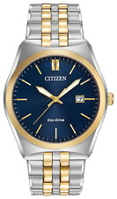 Citizen Corso Eco-Drive Blue Dial Two-tone Men's Watch - BM7334-58L