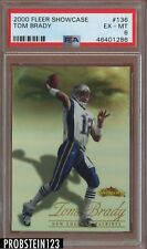2000 Fleer Showcase #136 Tom Brady RC Rookie #/2000 PSA 6  Centered