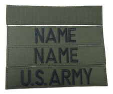 3 piece OD GREEN Custom Name & US Army Marines Tape set, Fastener - Military