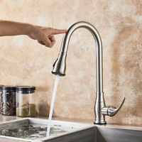 Sensor Touchless Magnet Kitchen Sink Faucet with Pullout Sprayer Brushed Nickel