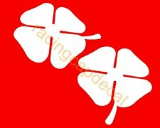 "4""102mm alfa romeo clover 4 leaf Decal Sticker quadrifoglio verde gtv gta mito 6"