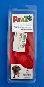 """Protex Pawz Dog Boots Size Small 2 – 2 ½"""" Paws Red 12 Reusable Disposable Shoes"""