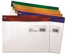 Snopake A5 Zip Bags Clear Plastic Zippi Zippa Folder Wallets - Pack 25