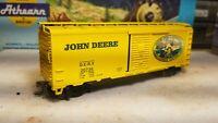 HO scale Athearn John Deere 40' Boxcar,  DERX #20736, RTR series metal wheels