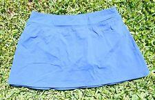 "Lands End 12"" Modest Swim Skirt - Tummy Control Panty - Royal Blue - Womens 6 P"