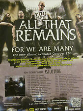 All That Remains, For We Are Many, Full Page Promotional Ad