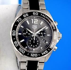 Mens Tag Heuer Formula 1 F1 SS Chronograph Watch - Anthracite Dial - CAZ1011