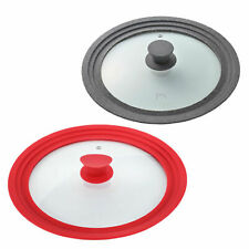 PN Poong Nyun Silicon Tempered Glass Lid Cover for Pots and Pans 24-30 cm