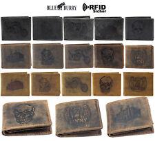Herren Geldbörse RFID Schutz Querformat Portemonnaie Echtleder Geldbeutel Börse