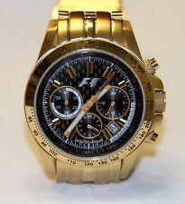 Jacques Lemans F5006 F1 Chronograph Women's Stainless Gold Watch Swiss Quartz