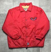 O'Neill Santa Cruz California Vintage Jacket Windbreaker Coat Button Up Red