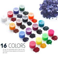 16 Colors Diy Candle Wax Dye Flakes for Scented Candle Making Supplies Kit Soy