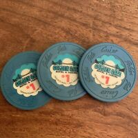 3- $1 GAMING CHIP FROM THE GOLDEN GATE CASINO LAS VEGAS Poker Chips Collectible