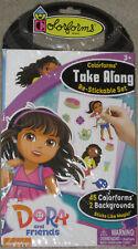 NEW Dora the Explorer and Friends Colorforms TAKE ALONG Re-Stickable Set