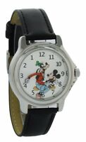 Vintage style backward ticking watch Goofy And Mickey Mouse Molded Hand watch