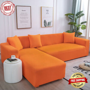 Plain Corner Sofa Covers L Shape Sofa Elastic Spandex Stretch Couch Cover